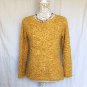 BB Dakota // Marigold Yellow Extra Fuzzy Sweater